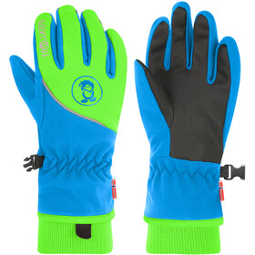 TROLLKIDS Trolltunga Gloves Kids medium blue/green